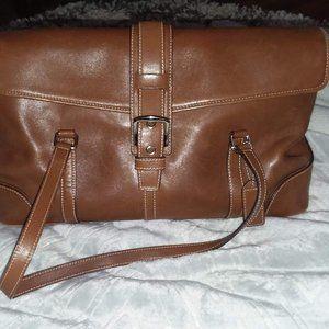 Coach tan leather satchel